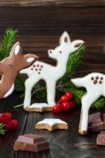 Veados, doces de chocolate, natal