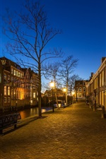 Preview iPhone wallpaper Dordrecht, Netherlands, street, evening, lights