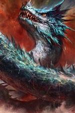 Preview iPhone wallpaper Dragon, eye, fantasy art