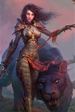 Preview iPhone wallpaper Dragons of Eternity, girl, warrior