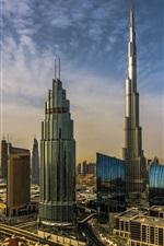 Preview iPhone wallpaper Dubai, UAE, city, skyscrapers, Burj Khalifa
