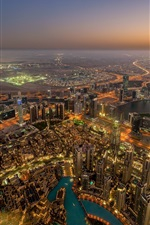 Preview iPhone wallpaper Dubai, community, city, night, skyscrapers, lights, top view