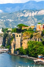 Preview iPhone wallpaper Europe, Italy, Sorrento, Naples, coast, sea, dock