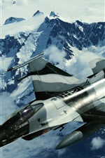 Preview iPhone wallpaper F16 military aircraft