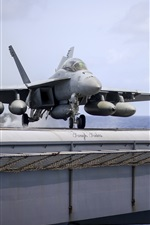 Preview iPhone wallpaper FA-18F carrier-based fighter
