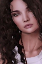 Preview iPhone wallpaper Fantasy girl, curly hair