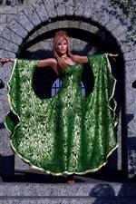 iPhone fondos de pantalla Chica de fantasía, falda verde