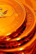 Preview iPhone wallpaper Gold coins, money
