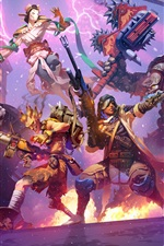 Preview iPhone wallpaper Heroes of the Storm, Overwatch, art picture