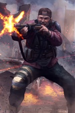 Preview iPhone wallpaper Homefront: The Revolution, soldiers