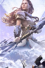 Preview iPhone wallpaper Horizon: Zero Dawn, archer, girl, PS4 games
