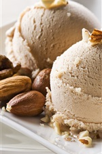 Preview iPhone wallpaper Ice cream, nuts, dessert
