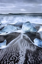 Preview iPhone wallpaper Iceland, Laguna, sea, ice