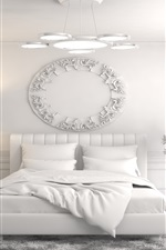 Preview iPhone wallpaper Interior design, bedroom, bed, white style