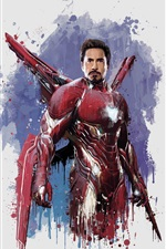 Preview iPhone wallpaper Iron Man, The Avengers: Infinity War, art picture