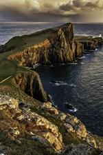iPhone壁紙のプレビュー スカイ島、スコットランド、灯台、海