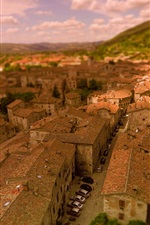 Preview iPhone wallpaper Italy, Gubbio, city, roof, cars