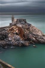 Preview iPhone wallpaper Italy, Portovenere, Liguria, sea, clouds