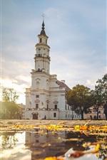 미리보기 iPhone 배경 화면 카우 나스, 리투아니아, 타운 홀, 가을