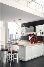 Preview iPhone wallpaper Kitchen, interior, white style