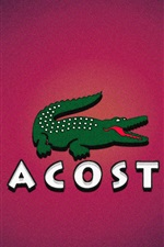 Preview iPhone wallpaper Lacoste logo, crocodile