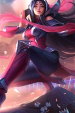Preview iPhone wallpaper League of Legends, girl, Blade Dancer, art picture