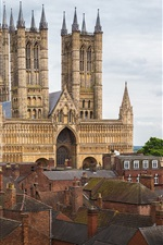 Preview iPhone wallpaper Lincoln Cathedral, England
