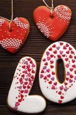Preview iPhone wallpaper Love and love hearts, cookies
