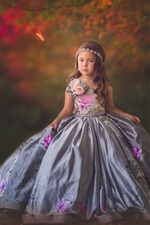 Preview iPhone wallpaper Lovely little girl, child, beautiful skirt