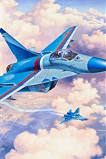 MiG-29S fighter, art picture