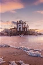 Preview iPhone wallpaper Miramar, Portugal, house, sea