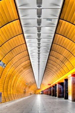 Preview iPhone wallpaper Munich, Germany, metro, tunnel
