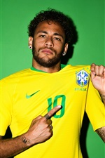 Preview iPhone wallpaper Neymar, Russia 2018, FIFA World Cup