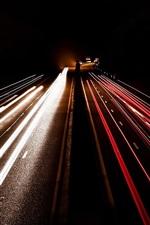 Night, road, lights