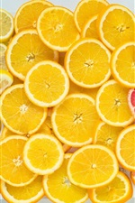 Preview iPhone wallpaper Oranges, grapefruit, lemons, fruit slices