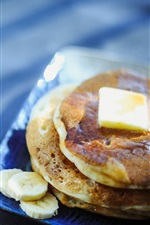 Preview iPhone wallpaper Pancake, coffee, breakfast