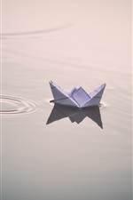 Paper ship, water