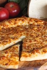 Pie, tomatoes, cheese