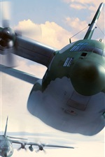 Preview iPhone wallpaper Plane flight, military aircrafts, art picture