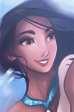 Preview iPhone wallpaper Pocahontas, cartoon girl