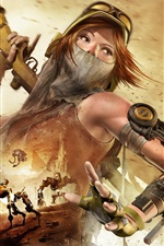 Preview iPhone wallpaper ReCore, Xbox game, girl, weapon, robot