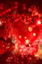 Red love hearts, romantic