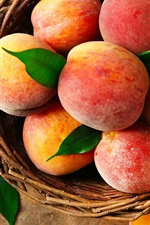 Red peaches, delicious fruit