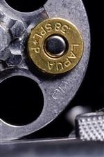 Preview iPhone wallpaper Revolver, bullet cartridge