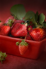 Preview iPhone wallpaper Ripe strawberry, juicy fruit