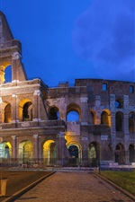 Preview iPhone wallpaper Roman Colosseum, Rome, Italy, night, lights