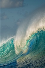 Preview iPhone wallpaper Sea, waves, water splash, beautiful