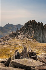 Preview iPhone wallpaper Snowdonia, Wales, stones