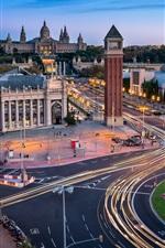 Aperçu iPhone fond d'écranEspagne, Barcelone, routes, tour, architecture, ville
