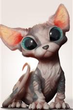Sphynx cat, art picture